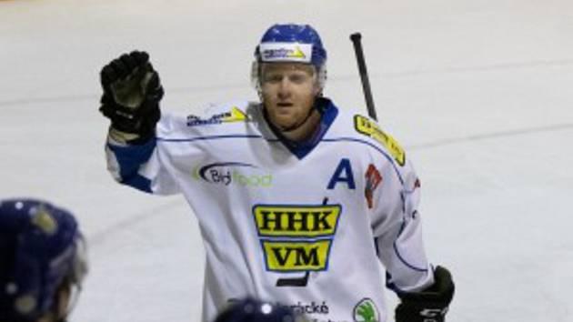 Hokejisté Velkého Meziříčí (na snímku) vedou v semifinálové sérii nad Boskovicemi 1:0. Foto: Jiří Mráz