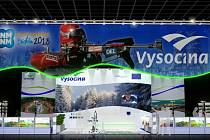 Expozice Vysočiny na veletrhu bude připomínat část biatlonové tratě.
