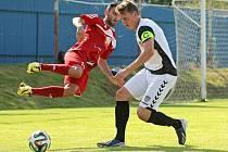 Po dvou bezbrankových zápasech z minulé sezony padly ve vzájemném utkání Vrchoviny a Velkého Meziříčí tři góly.