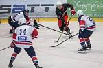 Hokejové utkání mezi SKLH Žďár nad Sázavou a HC Kopřivnice.