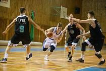 Basketbalové utkání mezi BK Vlci Žďár nad Sázavou a Lynx Liberec.