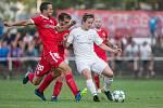 Fotbalové utkání mezi FC Žďas Žďár nad Sázavou a FC Zbrojovkou Brno.