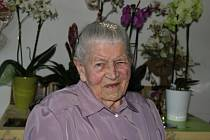 Jako jedna z mála může Blažena Šedá z Nového Města na Moravě tvrdit, že zažila obě světové války. Narodila se totiž v roce 1917.