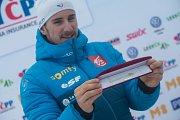 Zlatá lyže. Závod s hromadným startem mužů na 20 km v běhu na lyžích v Novém Městě na Moravě.