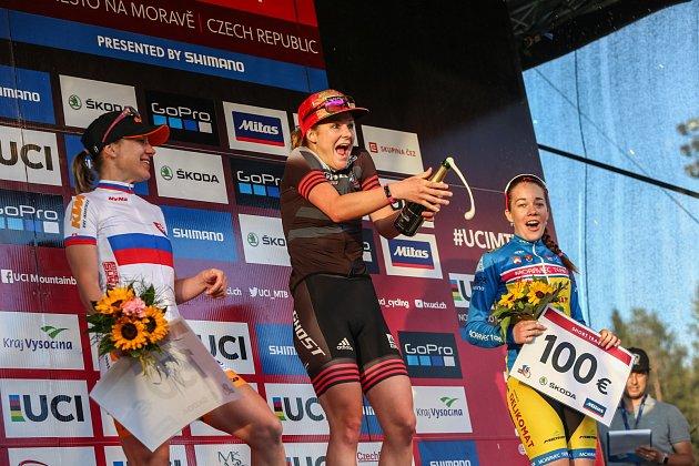 Světový pohár v cross country horských kol v Novém Městě na Moravě 19. Exhibiční závod v short tracku.