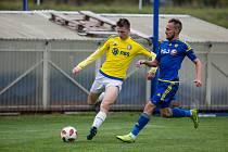 Fotbalisté Velké Bíteše (ve žlutých dresech) doma v neděli s Polnou jen remizovali 1:1.