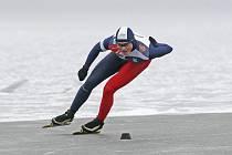 Mladší bratr mistryně světa a světové rekordmanky Milan Sáblík (na snímku z loňského prosince při mistrovství republiky) si v Inzellu nejlépe vedl na trati 1500 metrů.  Byl třetí.