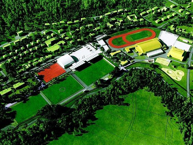 Tak by měla vypadat revitalizovaná sportovní zóna ve Žďáře za 270 milionů korun.