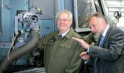 Prezident Zeman navštívil leteckou základnu u Náměště nad Oslavou.