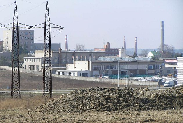 Průmyslová zóna ve Žďáře nad Sázavou.
