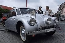 Proslulá aerodynamická Tatra T87.