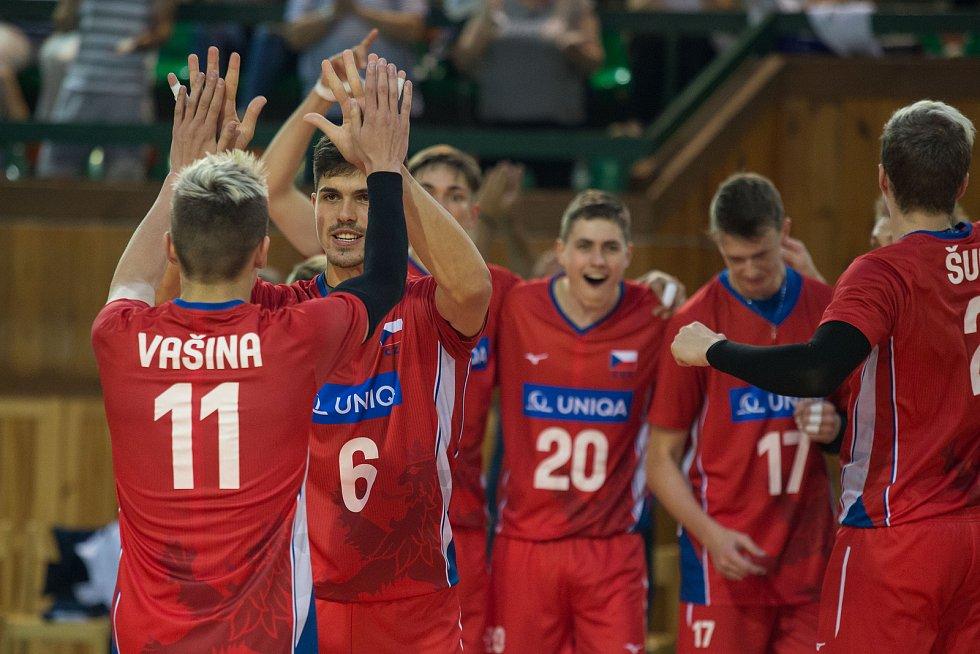 Volejbalová kvalifikace na Mistrovství Evropy juniorů U20: Česko x Řecko.