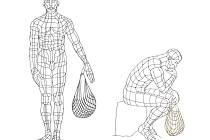 Pokud bude socha na náměstí Republiky umístěna, má muž s taškou stát, nebo sedět? Návrhy vytvořil výtvarník Jiří Plieštik, autor nové žďárské kašny.