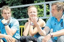 etr Hubáček starší (na snímku vpravo) i Petr Hubáček mladší (vlevo) se sportu věnovali odmalička. Oba vyzkoušeli kde co, prim ale u nich nakonec hraje atletika.