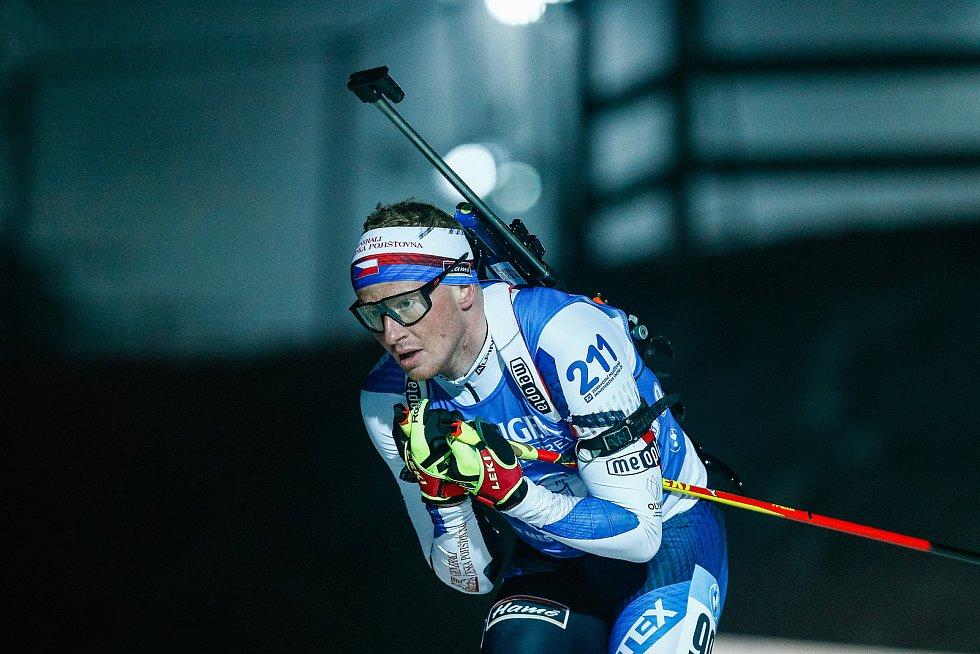 Vítězslav Hornig v závodu Světového poháru v biatlonu v závodu sprintu mužů na 10 km.