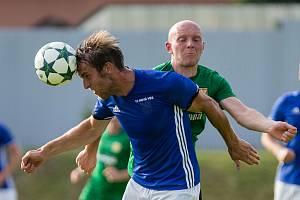 Po dvou kolech nového ročníku východní skupiny 1. A třídy mají fotbalisté Rapotic (v zelených dresech) plný počet šesti bodů.