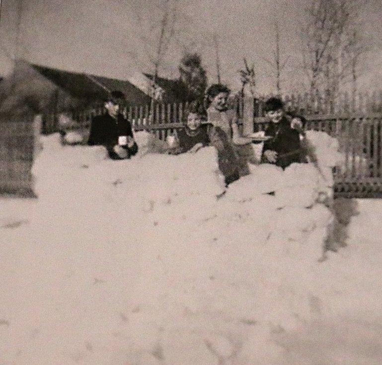 Zimní radovánky v Novém Městě na Moravě.