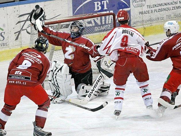 Souboj regionálních rivalů mezi Pelhřimovem a Žďárem nad Sázavou znovu vyhrál domácí celek.