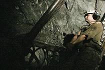 V uranovém dolu Rožná 1.