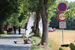 Silnice mezi Lhotkou a Vysokým byla kvůli nehodě rogala uzavřena.