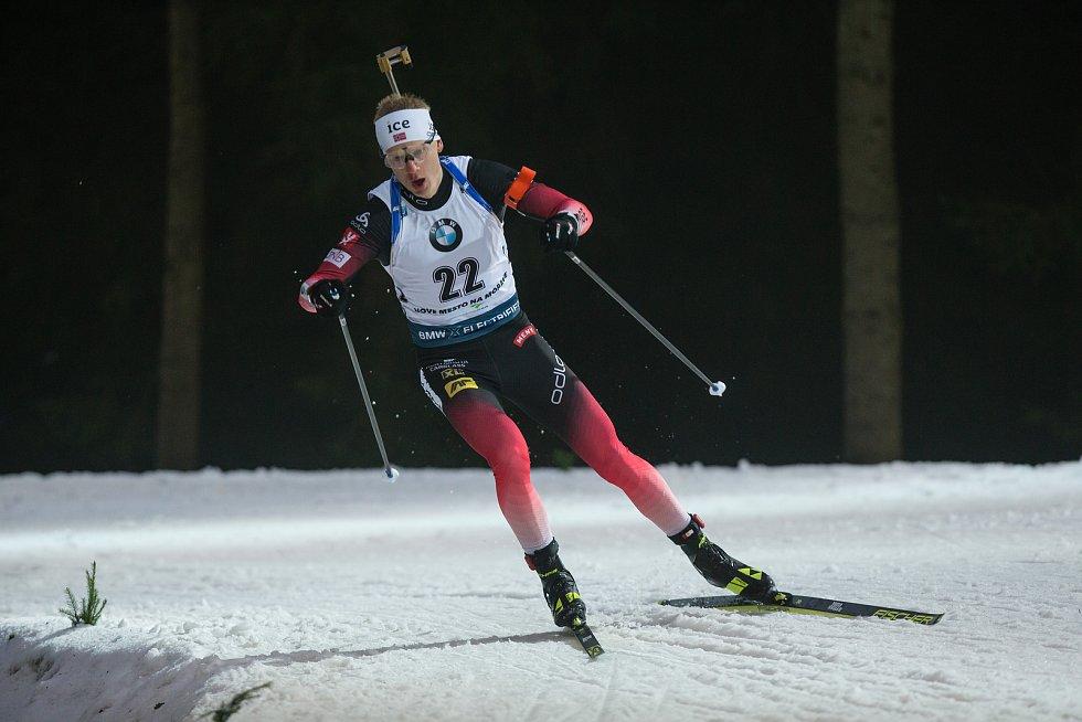 Závod SP v biatlonu (sprint 10 km muži) v Novém Městě na Moravě. Na snímku: Thingnes Johannes Boe.