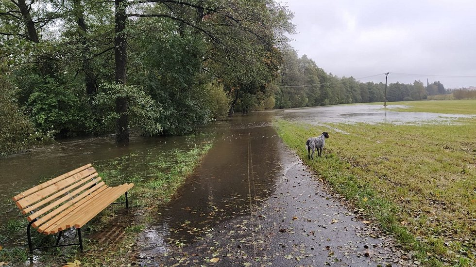 Povodně na Vysočině - situace ve Žďáru nad Sázavou.