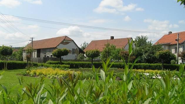 Pohled na Pikárec - vesnici roku na Vysočině a druhou nejhezčí obec v Česku 2008.