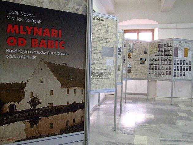 Výstava Mlynáři od Babic ve výstavní sini Staré radnice.