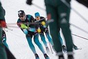 Čtvrteční trénink před závody Zlatá lyže.