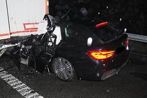Nehoda na 83. km dálnice D1 ve směru na Brno.