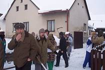 V sobotu řádily masopustní masky v Nové Vsi u Nového Města na Moravě.