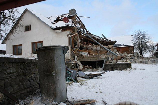 Výbuch v domě v Pavlově.