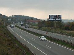 Dálnice D1 u Velkého Meziříčí, ilustrační foto.