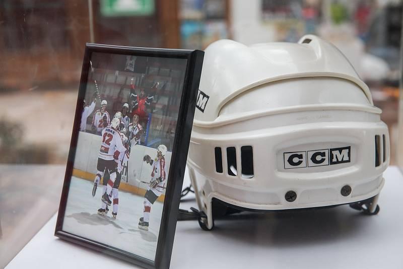 Výstava Hoříme hokejem ve Žďáře nad Sázavou.