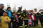 Námětové cvičení tří hasičských sborů Kuklíku, Studnic a Rokytna.