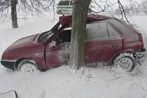 Nehoda favoritu u Sázavy.