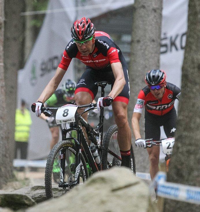 Závod Světového poháru horských kol v cross country, muži elite, 21. května v Novém Městě na Moravě.