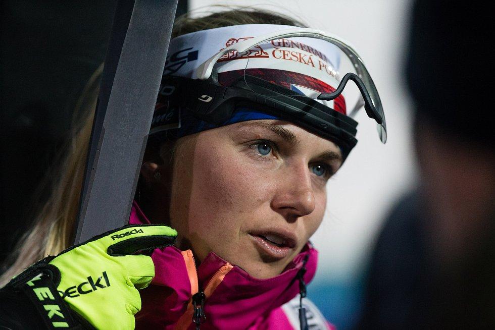 Sprint žen v rámci Světového poháru v biatlonu v Novém Městě na Moravě.
