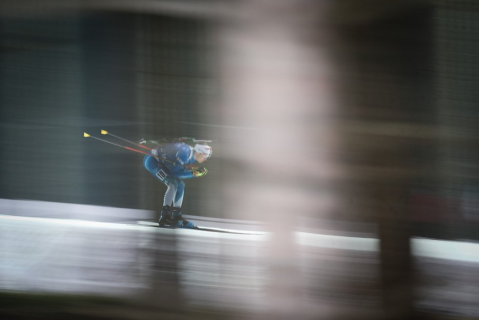 Terro Sappala v závodu Světového poháru v biatlonu v závodu sprintu mužů na 10 km.