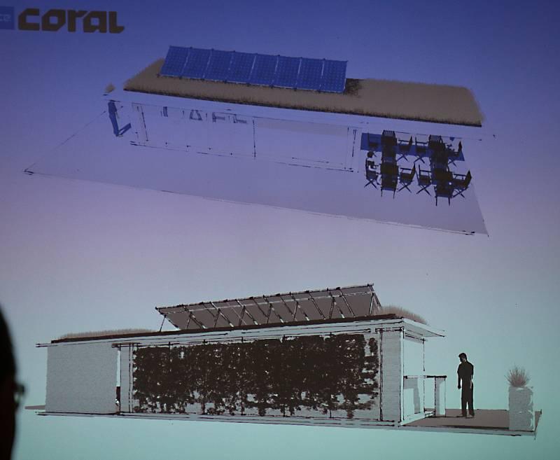 Takto by měla vypadat první tištěná budova - kavárna na Farských humnech.