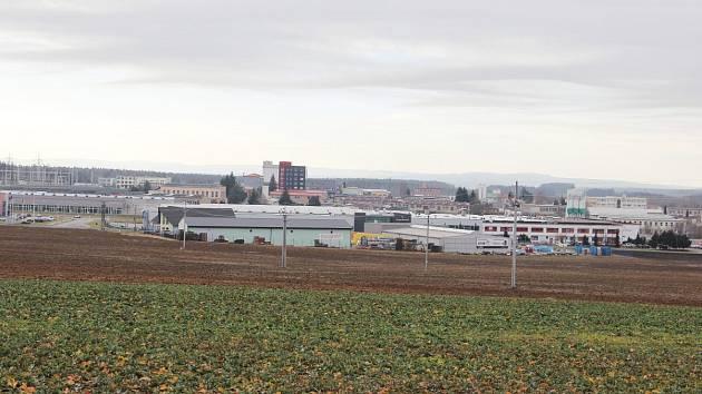 Průmyslová zóna ve žďárské Jamské ulici.