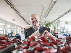 Žďárská firma Tokoz nabízí své výrobky na ukrajinském trhu. Na snímku je majitele a zároveň šéf představenstva Tokozu Vladimír Chládek.