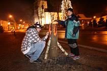 Advent přivítali obyvatelé Nového Města v sobotu na Vratislavově náměstí.