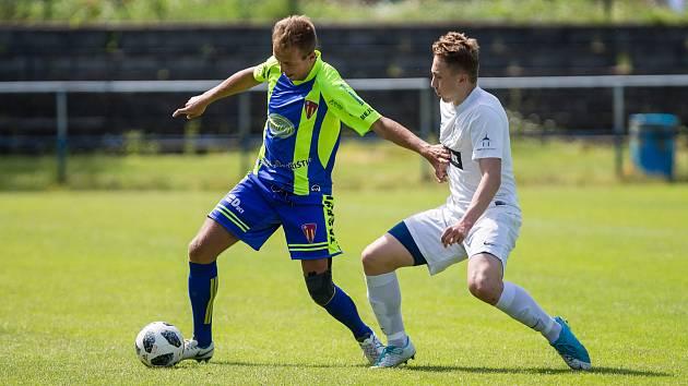 Fotbalové utkání divize D mezi FC Žďas Žďár nad Sázavou a TJ Sokol Tasovice.