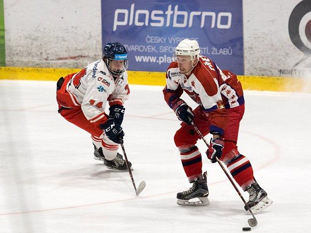 Ve středeční dohrávce 23. kola II. ligy – skupiny Střed doma zdolali hokejisté Žďáru nad Sázavou (v bílém) rivala z Havlíčkova Brodu (v červeném) těsně 4:3, když vítěznou branku zaznamenali v předposlední minutě hry.