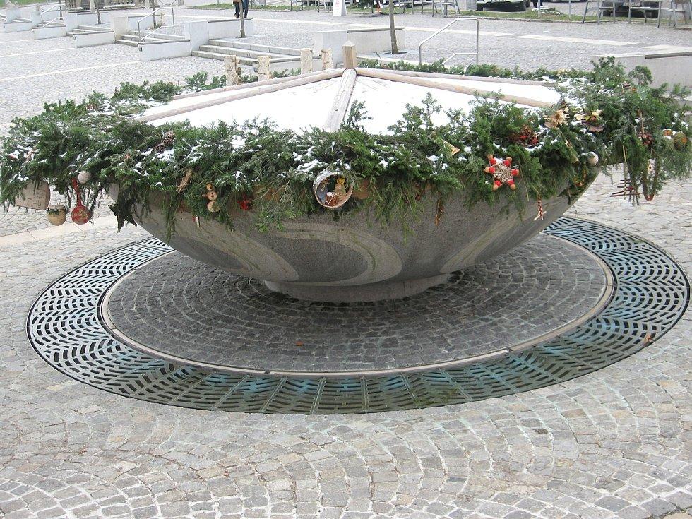 Vánoční výzdoba ve Žďáře nad Sázavou