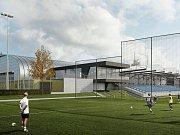 Sportovní zóna na Bouchalkách - vizualizace.