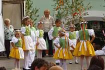 Přehlídka folklorních souborů se ve Velké Bíteši konala už pojedenácté. Sobotní odpoledne doplnily mimo jiné i pouťové atrakce, řemeslný jarmark, výstava bonsají či Jožka Šmukař.