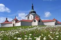 Zelená hora, poutní kostel Sv. Jana nepomuckého.