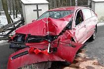 Nehoda se stala mezi Tasovem a Velkým Meziříčím.